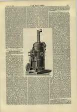 1883 An Illustration Of Ruston Proctor Fishing Smack Capstan Engine