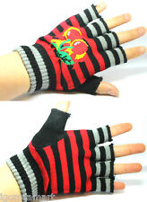 Pair Knitted Hand Wrist Warmer Fingerless Winter Touch Screen Cherry Gloves