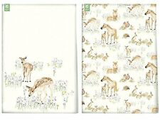 Trust national new forest toile animaux torchons. (twin pack). 100% coton