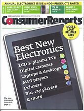 Consumer Reports Magazine December 2009 Electronics Wine AA Batteries Microwaves