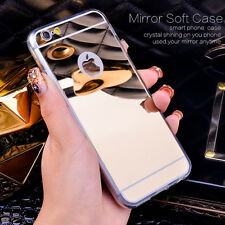 Mirror Soft Clear TPU Fundas y carcasas For iphone Rose Gold 6 6S 4.7""