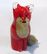 Petit langham glass red fox deskweight assez contemporain paul miller 11245