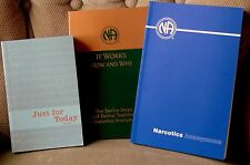 Narcotics Anonymous 3 Book set-Basic Text, It Works:How & Why,Just for Today