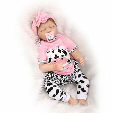 "22"" realistic reborn baby doll silicone vinyl soft gentle touch lifelike 55CM"