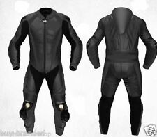 Black MOTOGP Motorcycle Leather Suit Racing Cowhide Leather Suit ONE PIECE