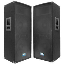 "Seismic Audio Pair Dual 12"" PA DJ Speakers 1200 Watts ~Pro Audio Band"