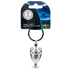 Official Licensed Product UEFA Champions League Trophy Keyring 3D Key Ring New