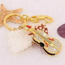 Crystal Gold Guitar Pen Drive 8GB USB 2.0 Memory Stick Flash Drive Thumb Drive