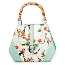 Banned Apparel Retro Oriental Butterfly Handbag with Bamboo Handle
