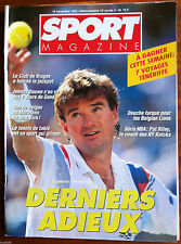 SPORT MAGAZINE du 19/11/1992; Connors - McEnroe/ Johnny Dauwe/ Pat Riley