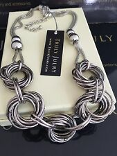 Contemporary Designer Chunky Link Silver Necklace - Gift Packaged