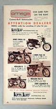 Omega Motorcycle PRINT AD - 1965 ~ Sport Special, Trail, Medallion, Scrambler