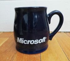 MICROSOFT Computer Dark Blue Coffee Tea Mug Cup FREE SHIP pc technology windows