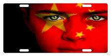 CHINA Flag Custom License Plate Chinese People Emblem Girl  Version
