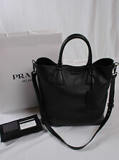 NWT Prada Men Vitello Daino Shopping Tote Crossbody VA0971 NERO