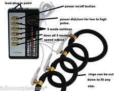 ELECTROSEX,ESTIM EMS TENS ENLARGEMENT SET WITH 4 CONDUCTIVE RINGS AND UNIT ,UK!