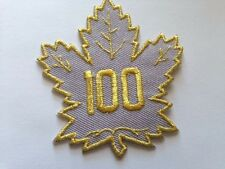Toronto Maple Leafs 100 NHL Jersey Patch Air Canada Gold Iron On Sew Pre Order