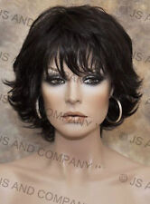 Wonderful EveryDay Short N Sassy Style wig full bangs Dark Brown NLLx 4