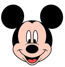 """Mickey Mouse Head Iron On Transfer 5.5 """"x 5.75"""" for LIGHT Colored Fabric"""
