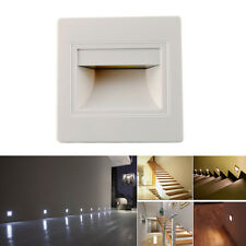 Warm White 1.5 LED Wall Plinth Recessed Stair Hall Footlight Aisle Lamp Lights
