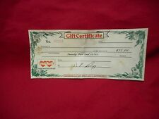 Vintage $25 GIFT CERTIFICATE GREAT SCOTT! GROCERY STORES  ~  Detroit Michigan