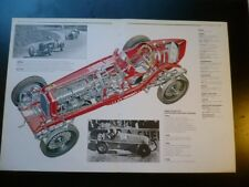 1934 Alfa Romeo Tipo B P3 Race Car Cut Away Drawing POSTER, 1988 italian print