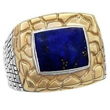 Philip Andre 14K Gold & Sterling Silver Men's Genuine Lapis Ring, size 10.5