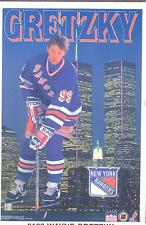 Wayne Gretzky NEW YORK RANGERS Original Starline Poster MINI Promo 3x5