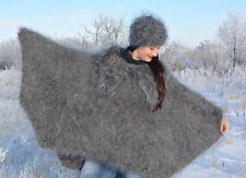 LUXURY PONCHO Sweater mohair Longhair 100% Goat Down fuzzy fluffy D.Tolik