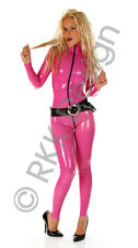 LARGE 100% Latex Rubber DEEP PINK Catsuit Second Skin Top Quality *HOT*