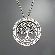 Silver Celtic Tree Of Life Love Nordic Hoop Friendship Best Friends Necklace