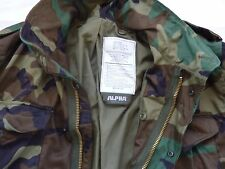 ALPHA INDUSTRIES M-65 LARGE GENUINE NEW Combat Field Jacket MADE IN USA WOODLAND