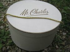 Vintage ?? Mr Charles Dirty White & Gold ??? Round Hat Empty Box good for decor
