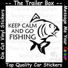 KEEP CALM GO FISHING Funny Car/Window JDM VW VAG EURO Vinyl Decal Sticker