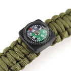 2pcs Compass Black Slip Slide For Wrist Watch Band Paracord Survival Bracelet