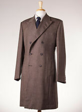 New OZWALD BOATENG BESPOKE COUTURE Brown Melange Tweed Wool Overcoat 40 R Coat
