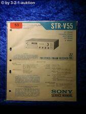 Sony Service Manual STR V55 Receiver (#0053)