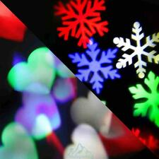 New LED Laser Projector Snowflake Moving Light Landscape Xmas Party Garden Decor