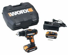Worx WX166.1 20V Max Lithium-Ion Drill / Driver | Dual Batteries | Fast Charging
