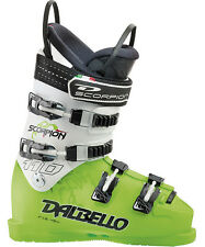 2013 Dalbello Scorpion SR 110 Mens Race Ski Boots Size 7 (UK) LimeWhite DSR1103