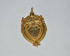 9ct Gold Football Medal to  M Smith - T&D JFA Champions 1921  - Linfield - 7.8g