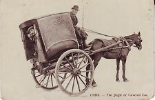 Ireland Cork - Jingle or Covered Car Horse Carriage Coach 1910 Bantry Cover PPC