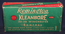 Original Vintage Remington 30-30 Winchester Empty Cartridge Box