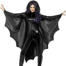 Halloween Ladies Unisex Fancy Dress Bat Wings Batwing Cape Black by Smiffys New