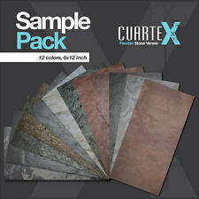 12 Color Sample Pack Flexible Stone Veneer 6x12 Inch from Cuartex