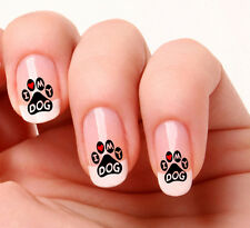 20 Nail Art pegatinas transferencias calcomanías # 806-Perro Pata huellas, I Love My Dog