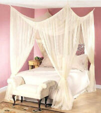 DREAMMA 4 POST BEDS CANAPY BEDROOM CURTAIN FLY NETTING MESH BED NET