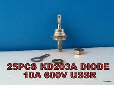 25 PCS KD203A/КД203А/ SILICON RECTIFIER DIODE  600V 10A USSR NOS IN ORIGINAL BOX