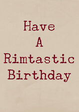 Rimtastic Birthday ~  Very Rude Greetings Card ~ BaSick Potty Mouth PM-BA130
