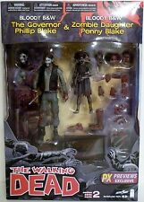 """THE GOVERNOR & PENNY BLAKE (BLOODY) The Walking Dead 5"""" inch Figures 2-pack 2013"""